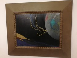Arnóti András - Bluvéj - kortárs festmény, 1 forintról, teljeskörű garanciával.