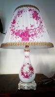 Herendi purpur Indiai-kosár mintás porcelán lámpa új szerelékkel