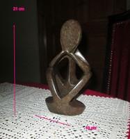 Art-Deco figura Gondolkodó