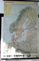 Hermann Haack Gotha  iskolai fali térkép Európa -Ostseeländer karte , a 1960-as évekből