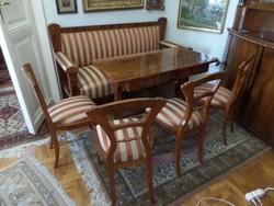 Antik biedermeier ülőgarnitura, felújított állapotban