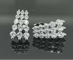 Csillogó  cirkónium köves   sterling ezüst füli 925/ - új