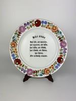 Házi áldás - Kalocsai porcelán falitányér