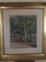 Számomra ismeretlen szignóval 1933-ban készült nagyon szép akvarell .