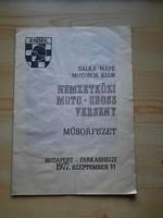 Műsorfüzet: NEMZETKÖZI MOTO - CROSS VERSENY 1977.