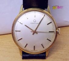 Kifogástalan Certina svájci óra 1960-s évek, működőképes állapotban, használatra, vagy gyűjteménybe