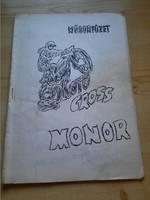 Műsorfüzet: MOTO CROSS MONOR 1981.