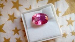 9.15 karátos ceyloni padparadscha  pink zafír drágakő tanúsítvánnyal