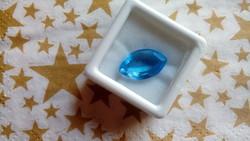 6.10 karátos brazil kék imperial topáz drágakő tanúsítvánnyal