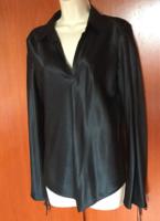 Banana Republic fekete selyem divatos nagyon szép új blúz, M es méret !