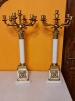 Pair of old candelabers