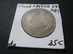 1 Forint 1869 KB R!