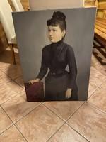 Női portré. Ismeretlen festő alkotása