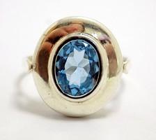 Kék köves ezüst gyűrű (ZAL-Ag96705)