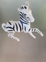 Extrém ritka gyűjtői retro Hollóházi zebra figura