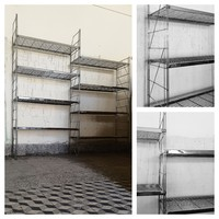 Stainless solid design shelving system