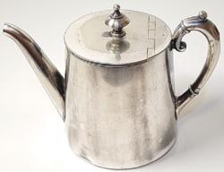 Ezüstözött antik kávéskanna