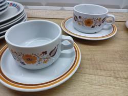 Alföldi porcelán Panni dekoros teás csésze és tányér 2db