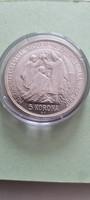 Magyarország 5 korona 1907 - Ferenc József megkoronázásának 40. évfordulójára - FERT peremirat UNC