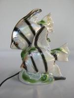 Hal pár Elka jelzéssel porcelán halas lámpa