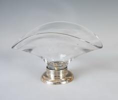Ezüst talpú üveges kínáló