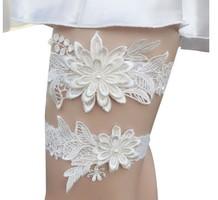 Esküvői, menyasszonyi harisnyakötő szett  ES-HK01-2 fehér