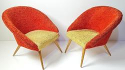 Szuper retró - skandináv jellegű designer fotelek /  21 cm magasak!