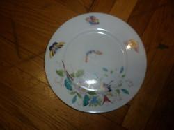 Antik német kézzel festett bavaria porcelán tányér