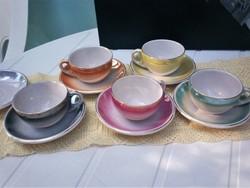 Kerámia Iparművész lüszteres kávés készlet, gyönyörű színes és  patinás