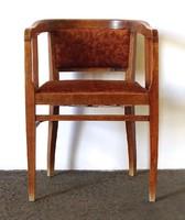 1F431 Antik szecessziós kárpitozott karfás szék