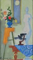 Medveczky Jenő (1902-1969) Csendélet a holdfényben