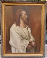 Rácz Kálmán (1908-1994) : Krisztus Pilátus előtt, Munkácsy másolat