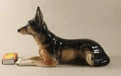 Nagyméretű porcelán német- juhász kutya 147