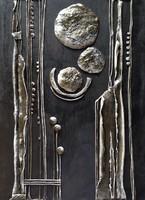 Absztrakt festmény/relief /33,5x43,5cm/