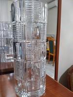 Vastag falu ólom kristály váza