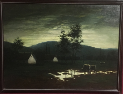 Záborszky jelzéssel, olaj-vászon festmény