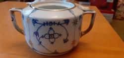Victoria Indian blue porcelán cukortartó