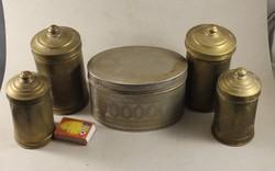 Antik fém fűszertartó készlet 169