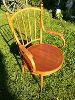 Thonet szék,íróasztalszék,karfás,nagy ülőlapos,ritka