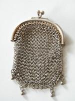 Antik sterling ezüst (925) kis tárca, pénztárca