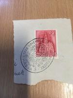 1938 Kassa visszatért bélyegzés papírlapon .