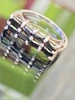 Egyedi ezüst gyűrű, Onyx kövekkel