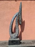 Modern absztrakt tükörmozaik szobor