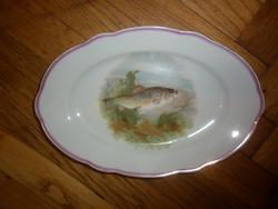 Régi kis halas tál tányér