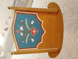 Wooden baby cradle, child's play