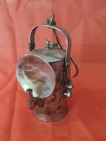 Antik Réz Karbid Lámpa.Bányászlámpa.