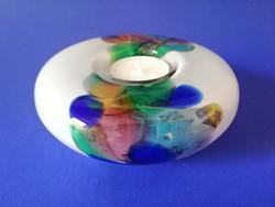 Művészeti üveg mécsestartó