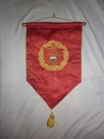 Régi szocialista brigád selyem zászló