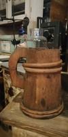Sörös kupa, régi fa sörös korsó a 19. századból