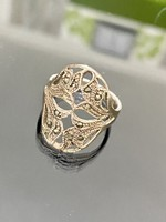 Vintage, áttört mintás, Ezüst gyűrű, Markazit díszítéssel
